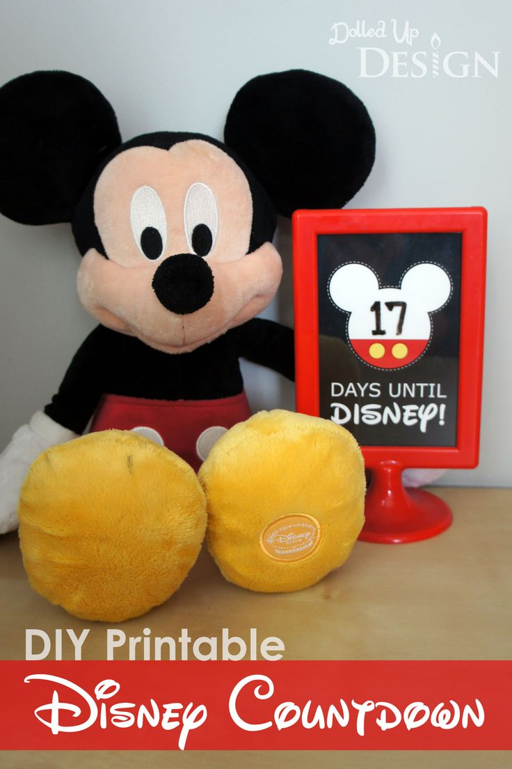 Easy DIY Disney countdown | Instructions and free printable included