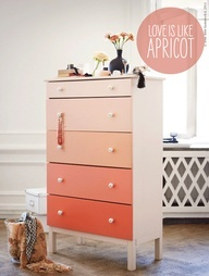 Pick a color swatch, get a sample container of each, one per drawer - easy and always successful.  Love it!