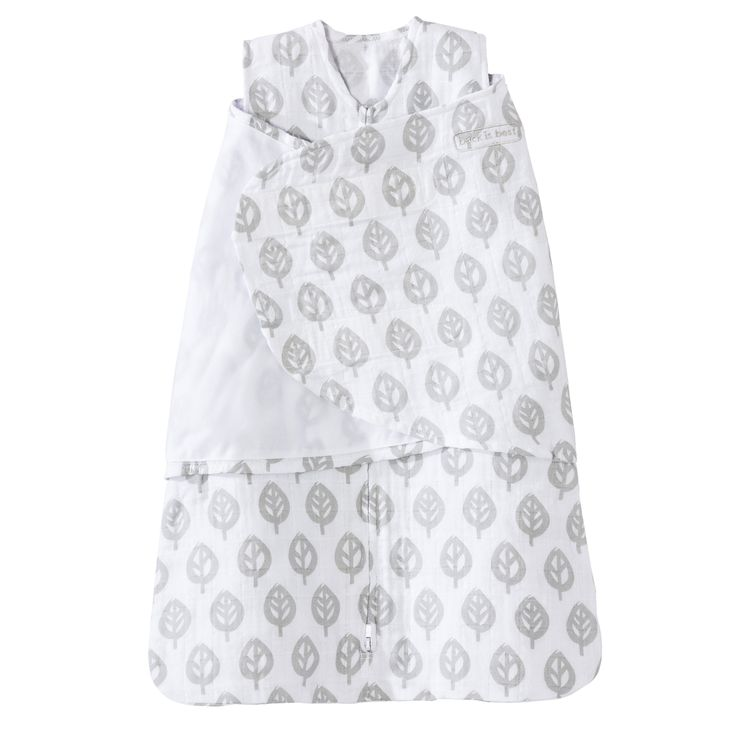 The 100% Cotton Muslin SleepSack Swaddle from HALO helps baby sleep safe and sound.
