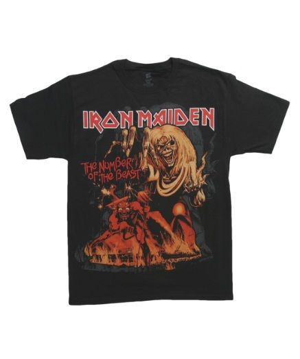 Iron Maiden Number of the Beast T-Shirt #TShirts #CustomShirts #BandTees