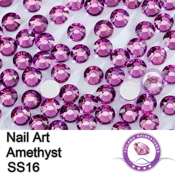 Shining Flatback 1440pcs SS16 Amethyst Non Hotfix Rhinestones For Nail Art-in Rhinestones from Home & Garden on Aliexpress.com | Alibaba Group