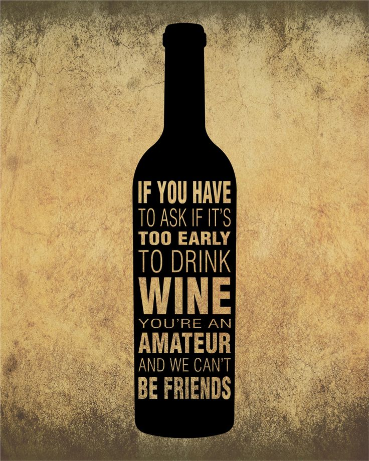 Too early to Drink Wine, you're an Amateur | Sarcastic Wine Quote