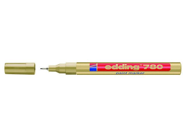 Edding 780 paint marker Gold, Silver, Black and White ds/4 x 10