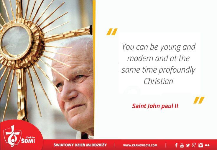 Pope John Paul Ii Quotes Youth: World Youth Day 2016 St John Paul II
