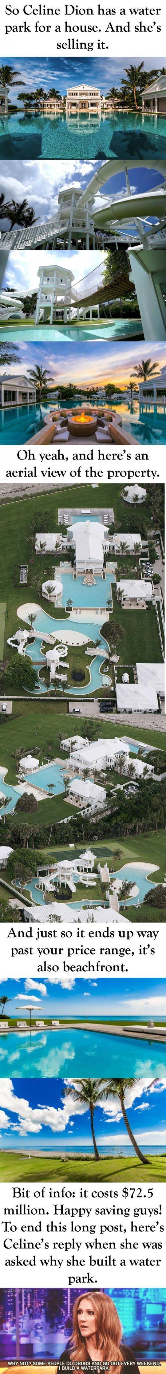 Celine Dion's Water park...