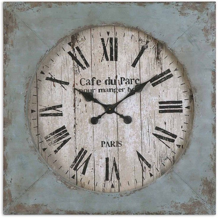 Accent your home decor with this beautiful 29 inch wall clock. A white pained wood finish will add a beautiful look to any room in your home