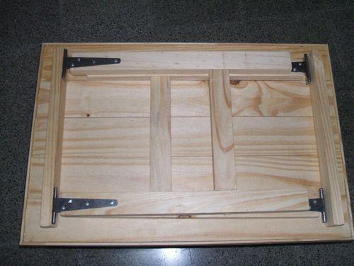 como hacer mesa plegable