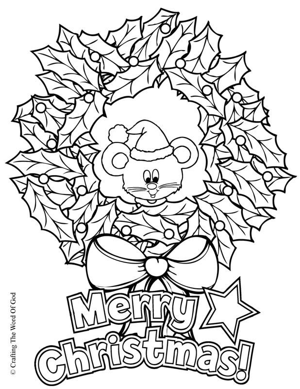 christmas crafts coloring pages - photo#31