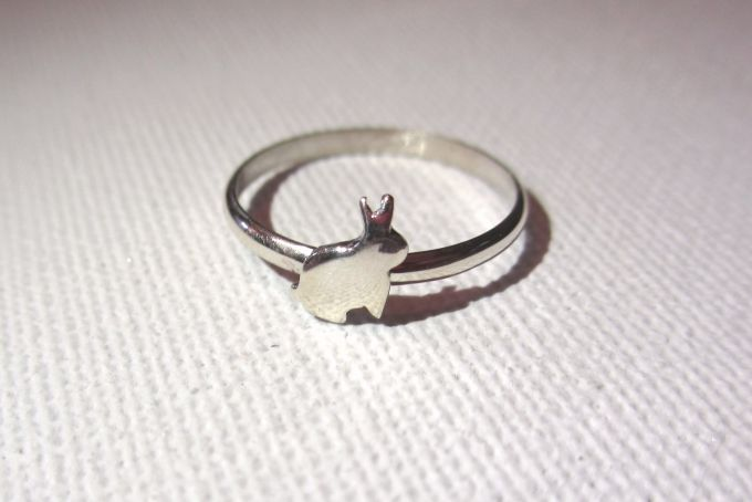 Sterling silver bunny ring by Forever Love