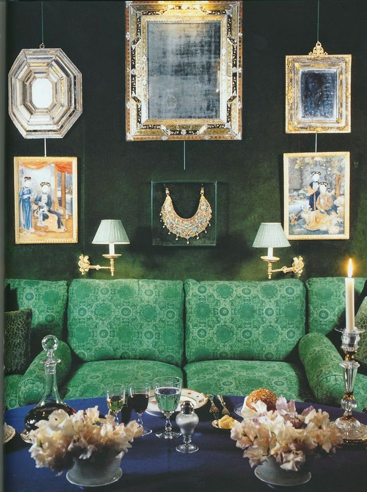 The Peak Of ChicR Jade GreenEmerald GreenPainted MirrorsGreen Living RoomsDressing RoomThe RoomDining