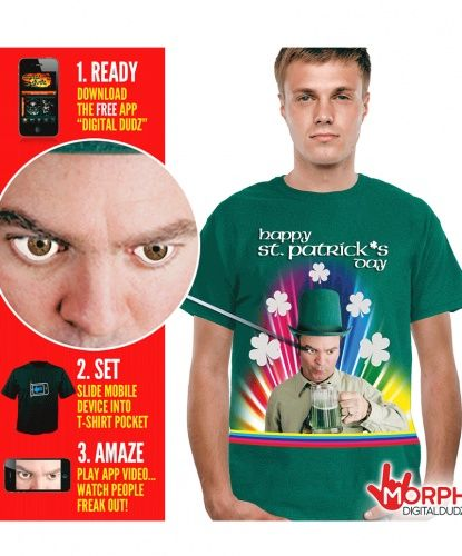 Футболка интерактивная на день Святого Патрика: футболка (Англия) — http://fas.st/08kvPX