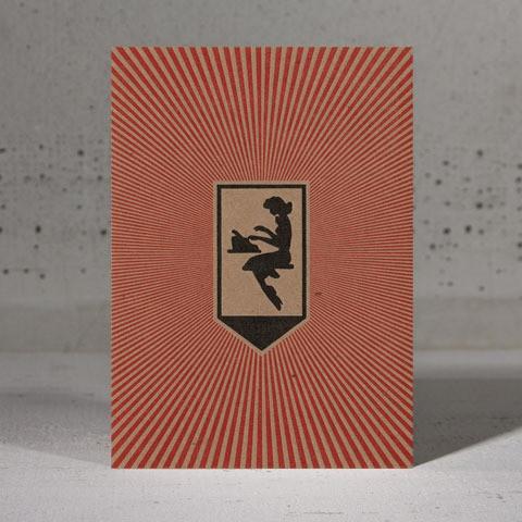 typist postcard by Hammerpress