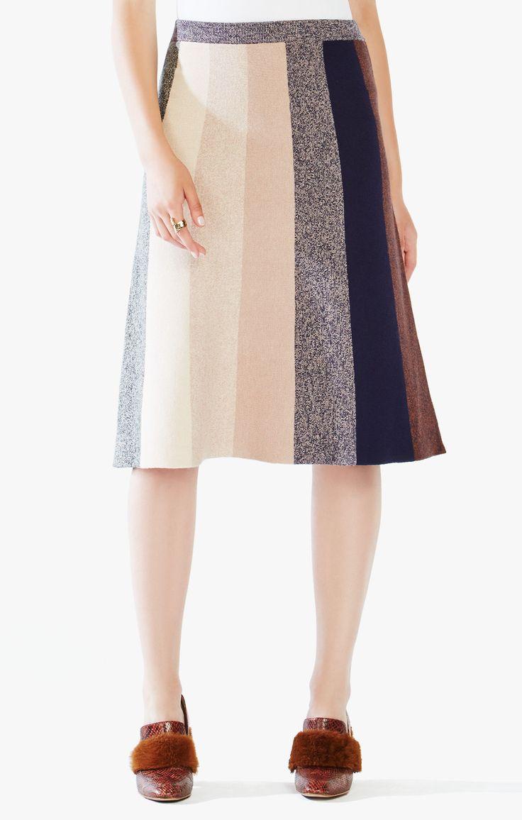 Talulah Color-Blocked Midi Skirt