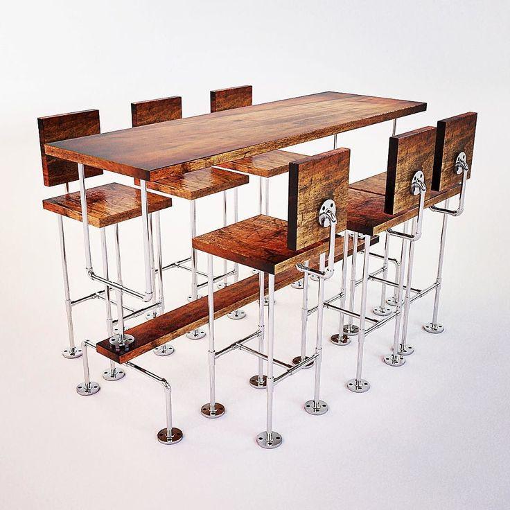Best 25 pipe furniture ideas on pinterest pipe decor for Plumbing pipe desk plans
