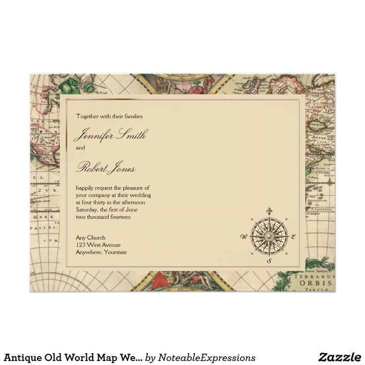 17 best ideas about map wedding invitation on pinterest | map, Wedding invitations