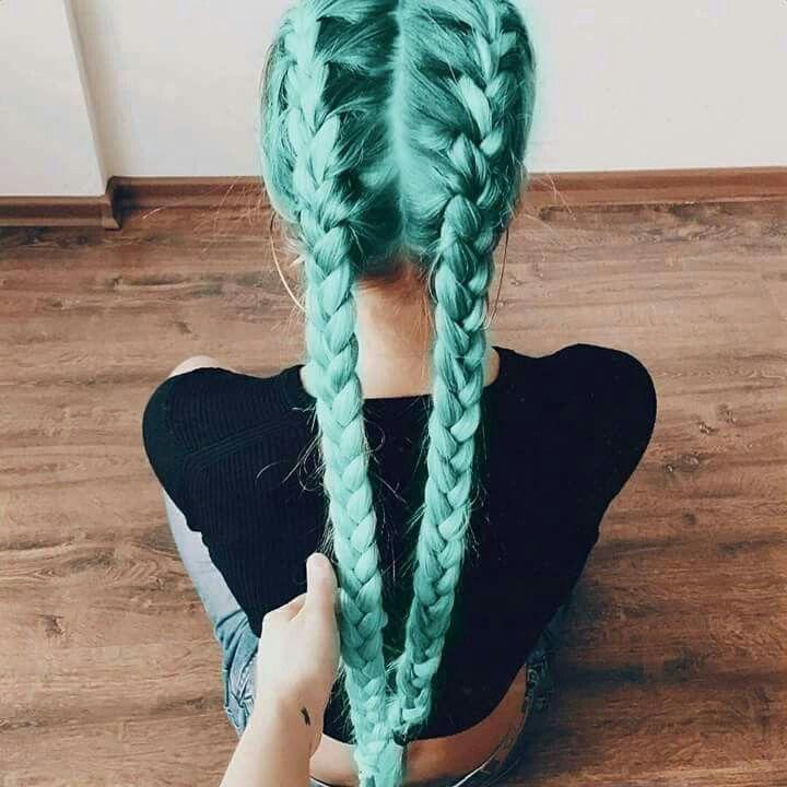# warkocze # włosy # mięta # tumblr