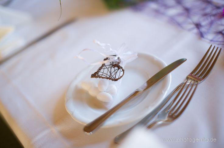 Hochzeit Tischdeko Hochzeitsmandeln mit Weidenherz