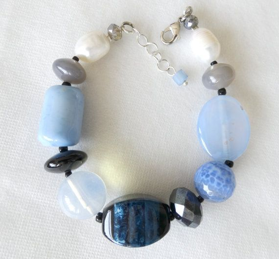 Chunky Lavender Stone Bracelet by bluewhitewear on Etsy Buy now  $24!