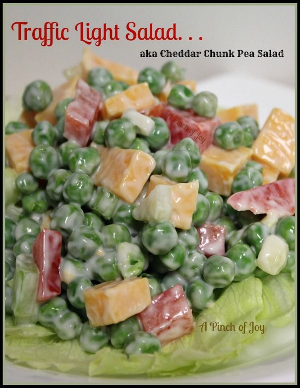 """Cheddar Chunk Green Pea Salad """"My family loves  this, but you may wish to adjust the amount of mayonnaise, according to taste. Of course, in OUR family, DUKES is the only mayonnaise of choice"""""""