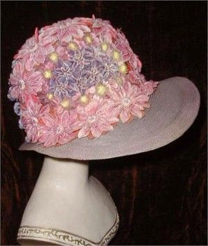 1920s Flowered Cloche Hat