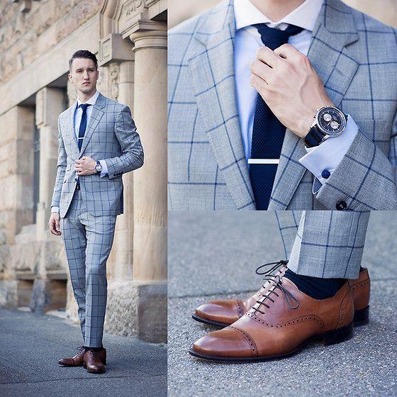 グレースーツに合う靴下/ 「ネイビー」「ブラウン」「グレー」
