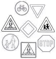 Risultati immagini per dopravne značky omalovanky