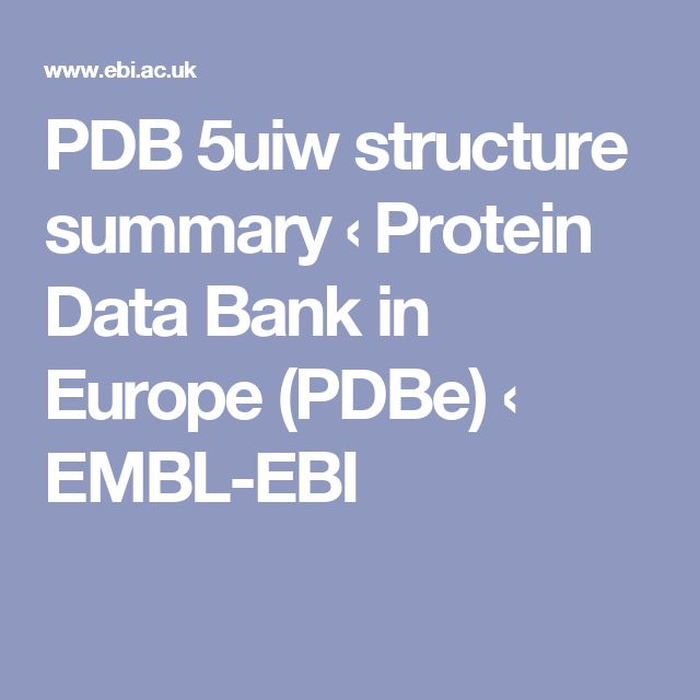 PDB 5uiw structure summary ‹ Protein Data Bank in Europe (PDBe) ‹ EMBL-EBI