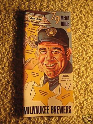 1979 Milwaukee Brewers Baseball Media Guide | eBay