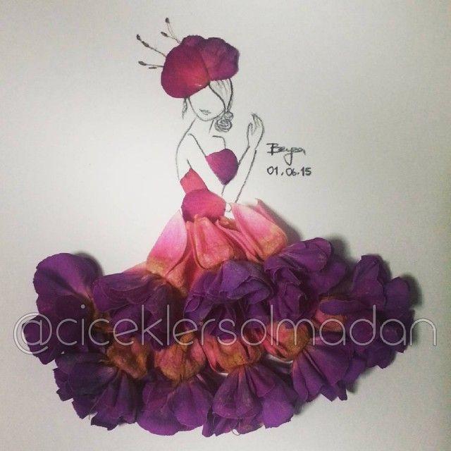 Sanatlı Bi Blog Çiçeklerle Minyatür Kadın Elbiseleri Oluşturan Sanatçı: 'Beyza Gonca Güner' 16