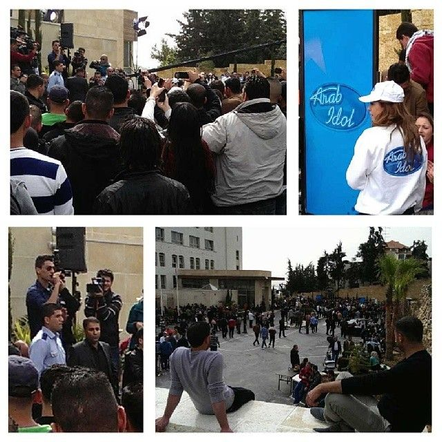 .@lodgaard | Huge excitement as #Palestinian #MohammedAssaf makes guest appearance and sings at 2014 #ArabIdol audition in #Ramallah | Webstagram