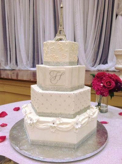 about Silver Hexagon Wedding Cakes