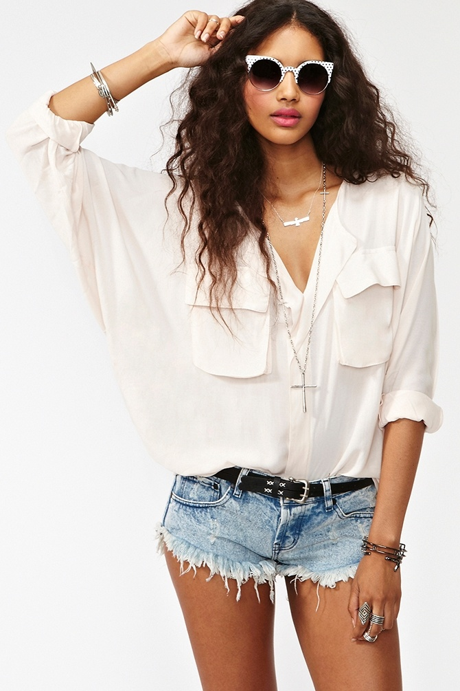 cute blouse by http://www.nastygal.com/clothes/utility-
