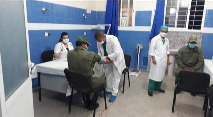 أفراد القوات المساعدة بالقيادة الإقليمية بتيزنيت يتبرعون بالدم In 2020