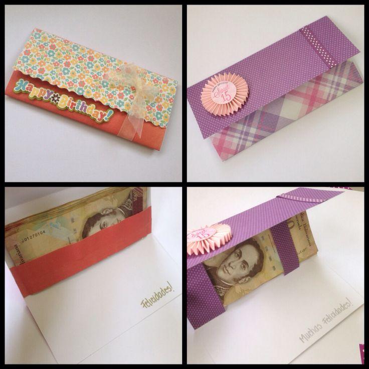 Tarjetas para regalo en efectivo sobres de regalo - Manualidades para regalar en cumpleanos ...