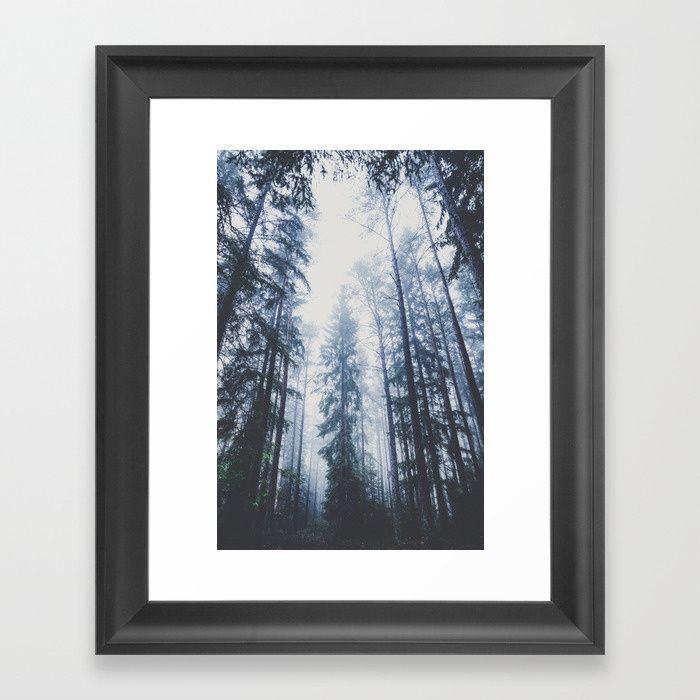 The mighty pines Framed Art Print by HappyMelvin. #walldecor #nature #wanderlust #forest #framedprint