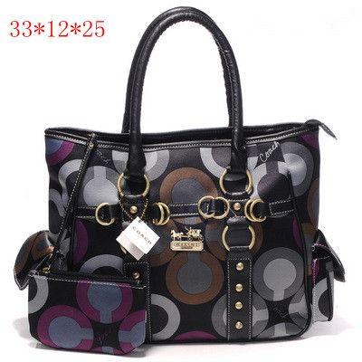 Coach Madison Graphic Op Art Tote Bag Black [Coach-0715] - $55.43 : Coach Outlet Canada Online