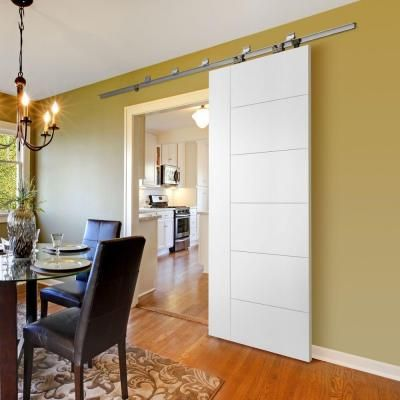 Barn Doors For Homes Interior gorgeous barn doors fit in seamlessly with the appeal of the rustic family house design Masonite Berkley Solid Core Primed Barn Door Interior Door Slab 82673 The Home Depot