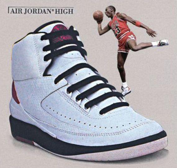 Air Jordan II - The first Jordan to not feature the Swoosh!