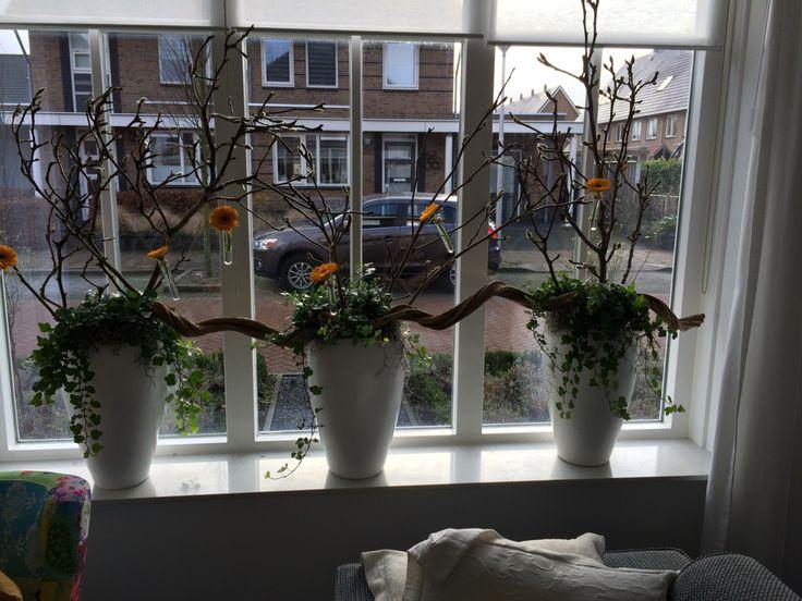 Idee raamdecoratie, voorjaar