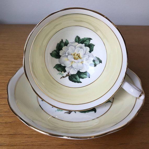 Royal Albert Tea Cup and Saucer White Gardenia Flower Teacup