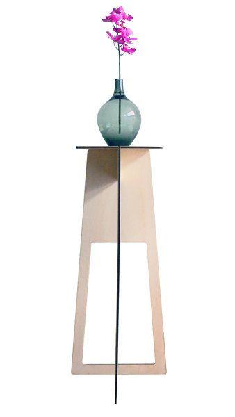 Trois, tavolino tavolo alto mini consolle trespolo side table in legno compensato di pioppo_piedistallo on Etsy, 39,00€