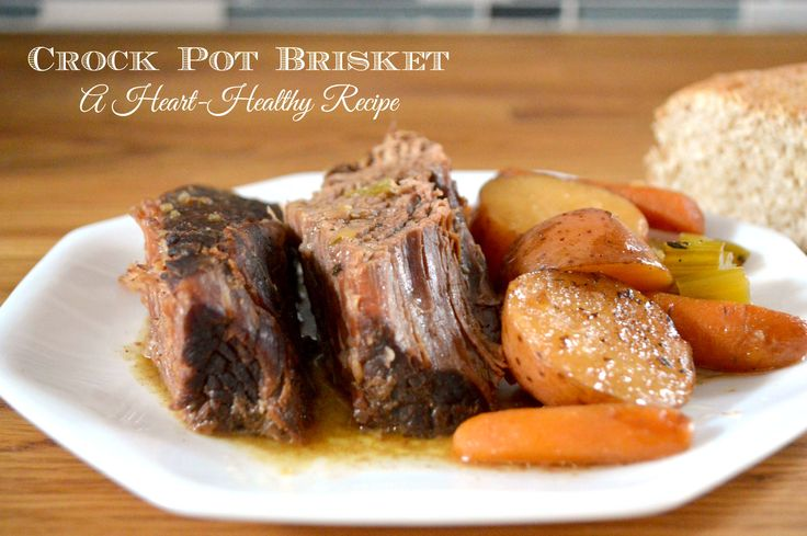Crock Pot Heart Healthy Brisket and Vegetables - http://www.sofabfood.com/crock-pot-heart-healthy-brisket-and-vegetables/ Break out the slow cooker because you're going to want to make this one-pot Heart Healthy Brisket and Vegetables. Loaded with flavor, protein, and vegetables, this low sodium meal is guaranteed to be a winner at the dinner table.  Brisket is a very flavorful cut of beef, but if it i...
