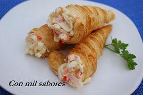 Con mil sabores: CANUTILLOS DE CANGREJO Y GAMBAS
