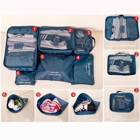 Opbergzakjes Voor In Deze Set Of Tas Reisorganizer Koffer 6 Je qUSzpMV