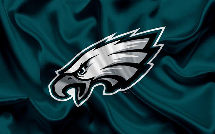 Download wallpapers Philadelphia Eagles, American football, logo, emblem, NFL, National Football League, Philadelphia, Pennsylvania, USA, National Football Conference