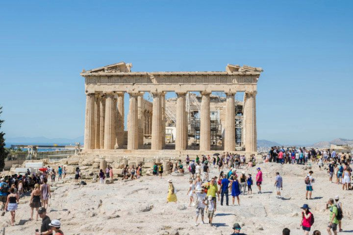 The famous Parthenon temple was dedicated to the Goddess Athena