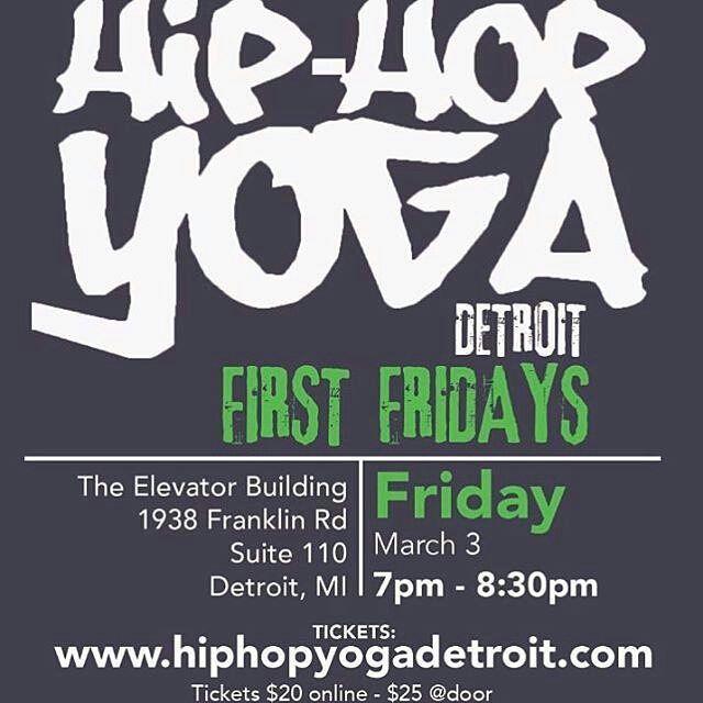 www.blackyogasuperstars.com Follow @hiphopyogadetroit - Get your tickets NOW! $20 online $25 at the door until at capacity Www.hiphopyogadetroit.com  #hiphopyogadetroit #hiphopjunkie #yogaaddict #Vinyasa #rap #flow #sweatlife #freestyle #Detroit #firstfriday #HipHopYoga #friday #fitness #fun #BigSean #BladeIcewood #yogaeverydamnday #jcole #Tupac #Drake #Kanye #saltnpepa #downtownDetroit #YoganicFlow #DetroitYoga #yogaintheD #DetroitHipHop #yoga #namasteyall #BlackYogaSuperstars…