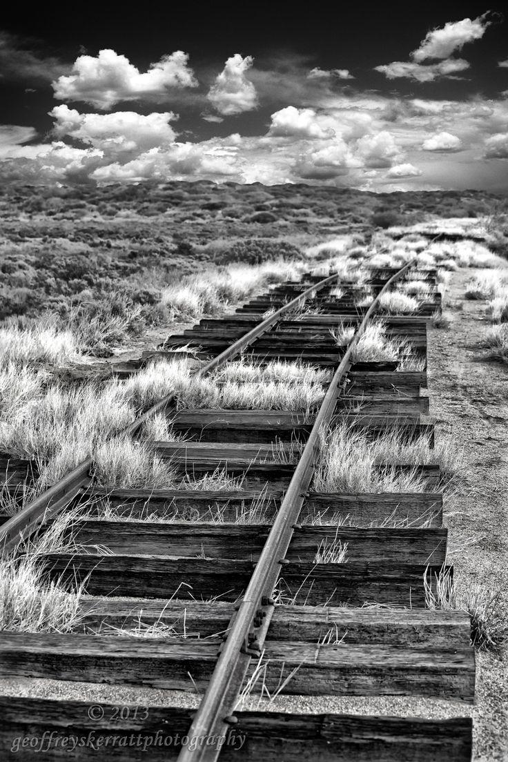 Tracks An abandoned railway line outback Australia. From website, www.geoffreyskerrattphotography.com