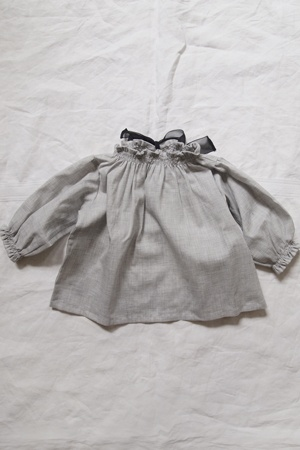 MAKIE: CLOTHING  Bowtie Blouse Sally - Lt. Gray