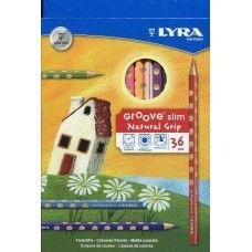 Lyra Groove Slim 36 darabos háromszög alakú színes ceruza készlet ajándék hegyezővel Ft Ár 3,599